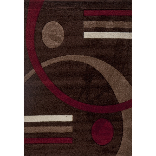 Postmodernist Venn Diagram Milano Turkish Area Rug (6' x 8')