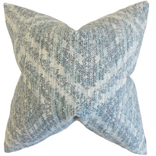 Quarry Geometric Rain Down and Feather Filled Throw Pillow