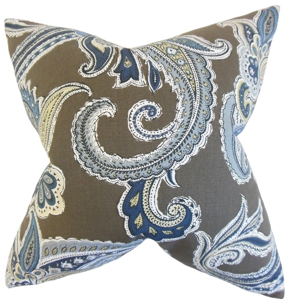 Kalani Paisley Feather Filled Truffle Throw Pillow