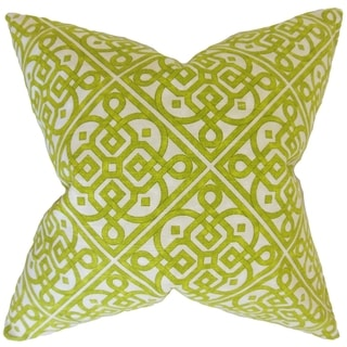 Auden Geometric 18-inch Feather Filled Keylime 18-inch Throw Pillow