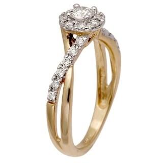 10k Yellow Gold 1/2ct TDW Diamond Engagement Ring (H-I, SI1-SI2)