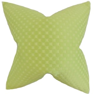 Kasen Solid 18-inch Feather Filled Green 18-inch Throw Pillow