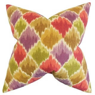 Yarrow Geometric 18-inch Feather Filled Multi 18-inch Throw Pillow