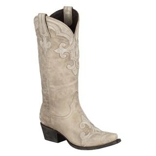 Lane Boots Women's 'Dalton' Ivory Leather Cowboy Boots