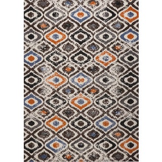 Multi-colored Diamond Estella Turkish Area Rug (8' x 11')