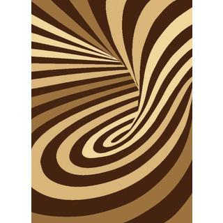 Brown Psychedelic Starlite Turkish Area Rug (8' x 11')