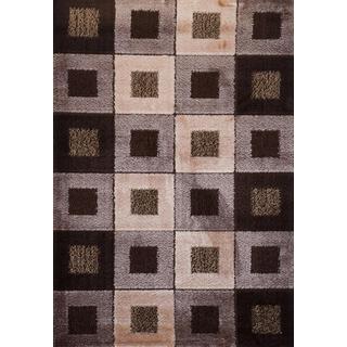 Earthtone Checkered Signature Turkish Area Rug (3' x 8')