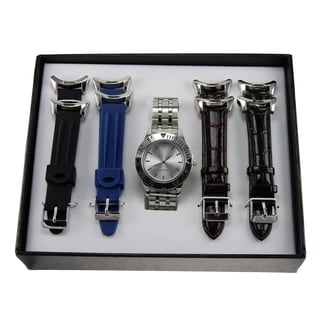 Men's 6-piece Watch and Interchangeable Watch Band Gift Set