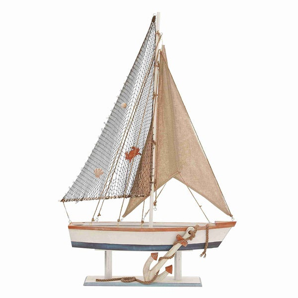 Beautiful Wooden Sailing Boat/ Anchor Decoration