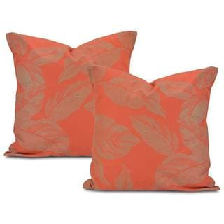 Bali Red Printed Cotton Pillow Cover (Set of 2)