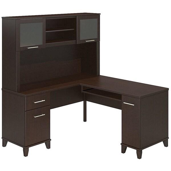 Bush Furniture Somerset 60 inch L desk with Hutch