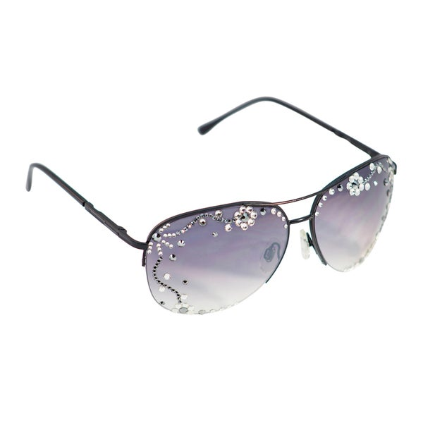 Eye Candy 'Floral Shades' Aviator Sunglasses
