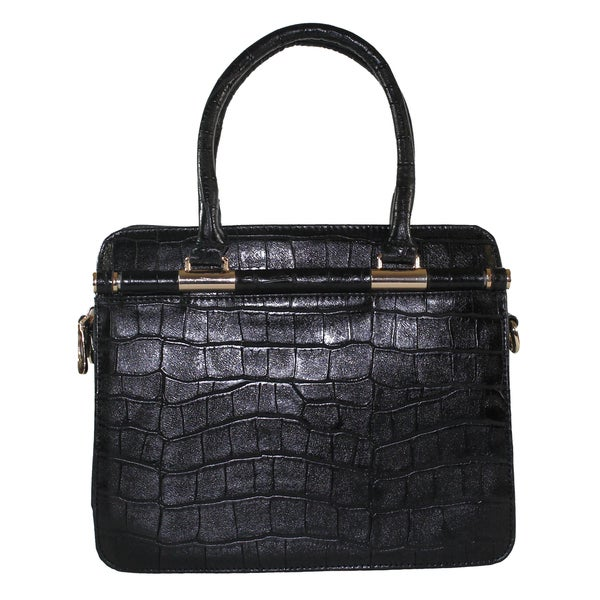 Lithyc Niagara Small Crocodile Vegan Leather Satchel