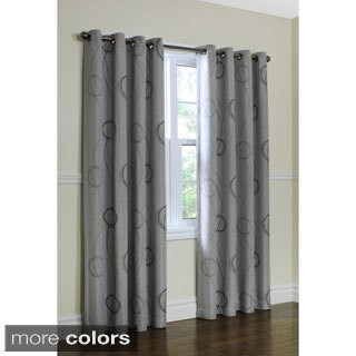 Brooke Woven Printed Grommet 84-inch Curtain Panel