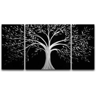 Silver Tree' Medium Metal Wall Art 20 x 39 in