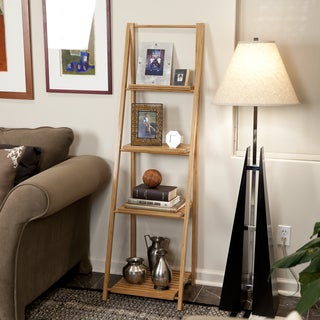 Bamboo Ladder Shelf