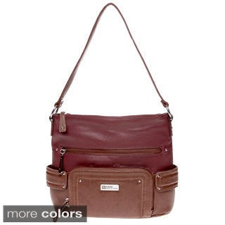 Stone Mountain 'Bartlett' Genuine Leather Hobo Bag