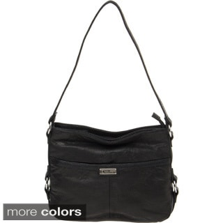 Stone Mountain 'Long Beach' Leather Hobo Bag