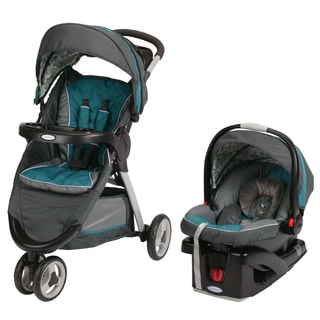 Graco FastAction Fold Click Connect Travel System in Caraway