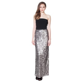 Von Ronen New York Women's Antique Smoke Sequined Maxi Skirt