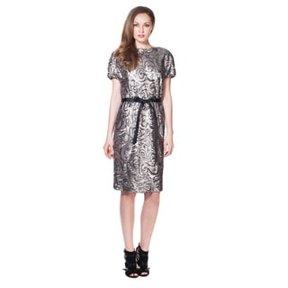 Von Ronen Women's New York Knee Length Sequined Dress