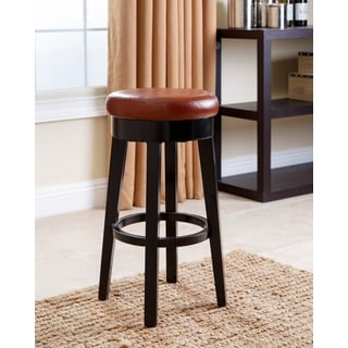 Abbyson Living Camila Red Bonded Leather Counter Stool