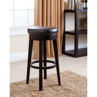 ABBYSON LIVING Camila Black Bonded Leather Counter Stool