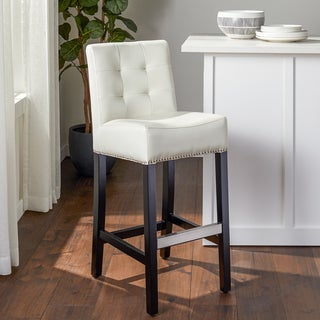 Abbyson Living Masimo Ivory Bonded Leather Bar Stool
