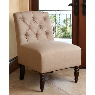 ABBYSON LIVING Radiant Tufted Fabric Slipper Chair