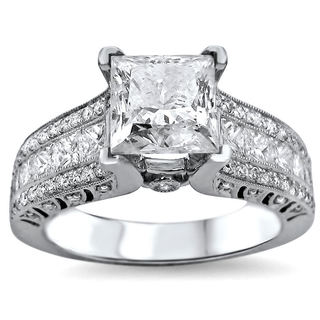 18k White Gold 2 1/3ct Princess-cut White Diamond Engagement Ring (G-H, SI1-SI2)
