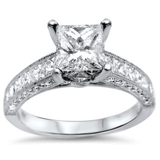 Noori 18k White Gold 2 1/6ct Princess-cut Diamond Engagement Ring (G-H, SI1-SI2)