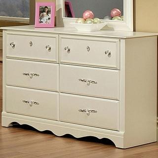 Sandberg Furniture Enchanted Pearl White 6-drawer Dresser