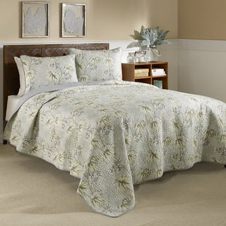 Tommy Bahama Newport Textured 3-piece Cotton Quilt Set