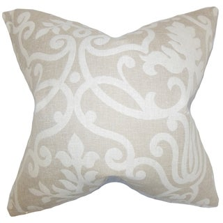 Bristol Floral Feather Filled Linen Throw Pillow