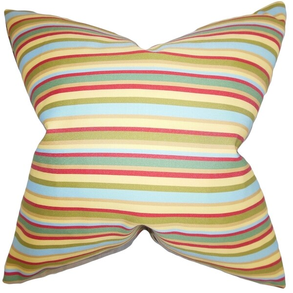 Libby Stripes Feather Filled Thow Multi Multi Throw Pillow
