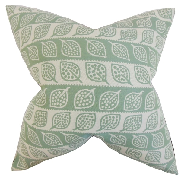 Ottilie Foliage Feather Filled Thow Leaf Green Leaf Green Throw Pillow
