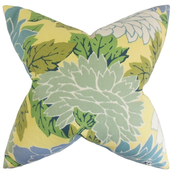 Delaney Floral Feather Filled Thow Pillow 14216697