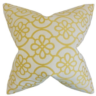 Indre Geometric 18-inch Feather Filled Throw Pillow