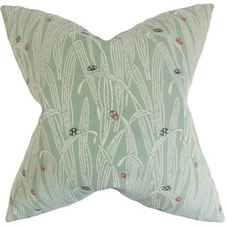 Dusha Mist Foliage 18-inch Feather Filled Throw Pillow