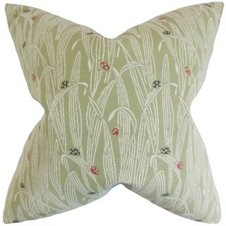 Dusha Foliage 18-inch Feather Filled Throw Pillow