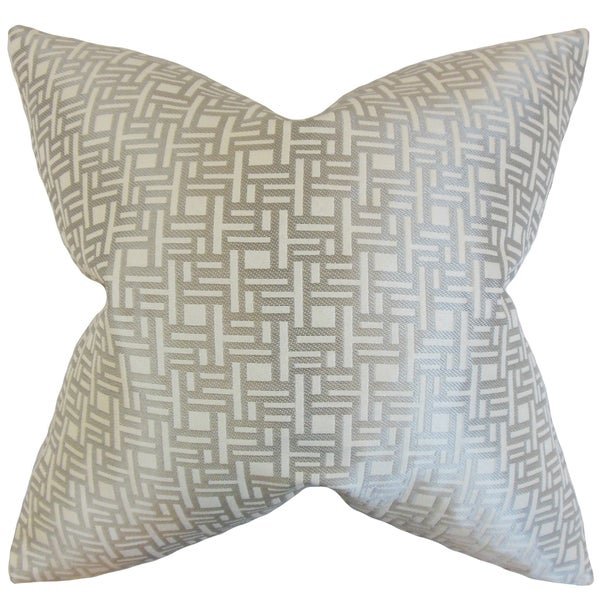 Daphnis Geometric Grey Grey Throw Pillow
