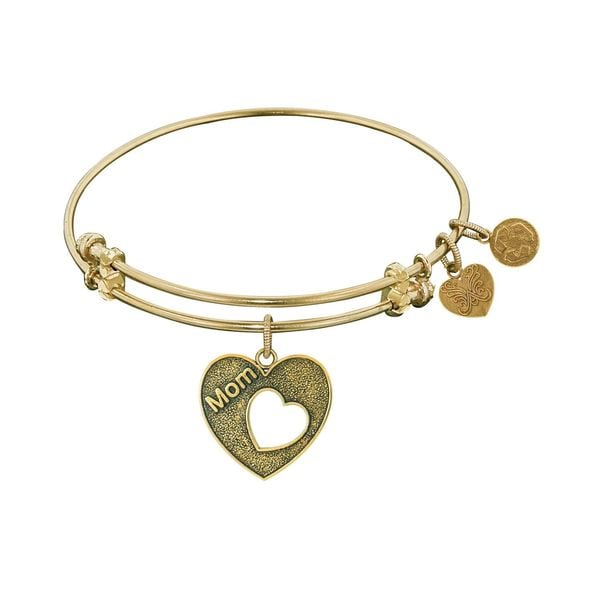 Angelica Mom Open Heart Charm Bangle