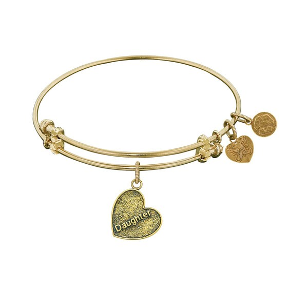 Angelica Daughter Heart Charm Bangle