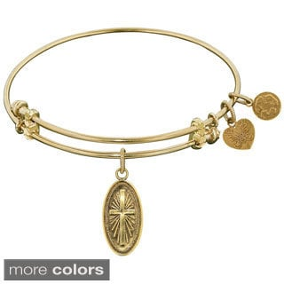 Angelica Cross Brass Charm Bangle