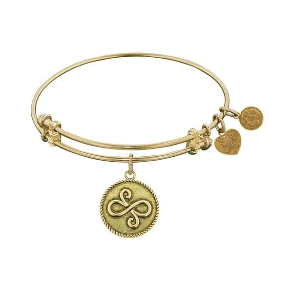 Angelica Best Friends Charm Brass Bangle