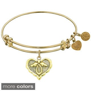Angelica Angel Charm Brass Bangle