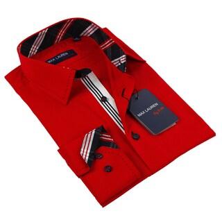 Max Lauren Men's Red Dress Shirt