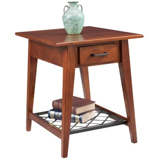 Latisse Drawer End Table with Slatted Steel Shelf