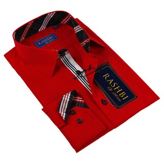 Rashbi Men's Red Dress Shirt