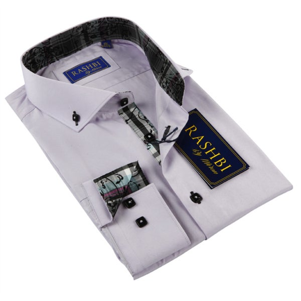 Rashbi Men's Lavender Dress Shirt